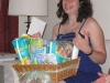 A diaper basket