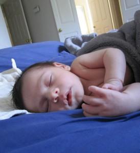 Sound asleep, I look like daddy