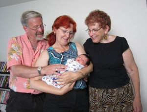 The grandparents with their grandson