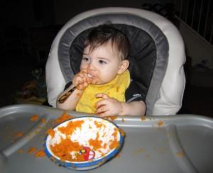Mmmm...spoon much better than sweet potato.