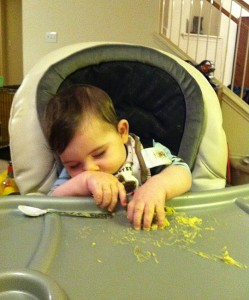 Eating is really hard work! Totally passed out at the dinner table.