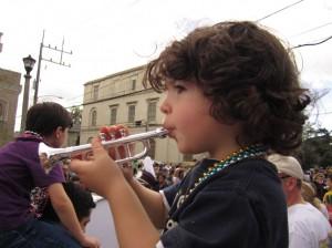 DJ as a New Orleans musician.